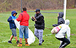 WATERBURY, CT-042117JS01- More than 120 students from North End Middle School in Waterbury, volunteered to help with an Earth Day clean up in Bucks Hill Park on Friday. The clean up was in partnership with the Waterbury Parks Department. <br /> Jim Shannon Republican-American