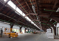Godsbanen, The Freight Yard Project during construction Aarhus, Denmark. Architect: 3XN