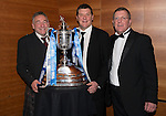 St Johnstone FC Scottish Cup Celebration Dinner at Perth Concert Hall...01.02.15<br /> Dr Alastair McCracken pictured with Tommy Wright and Roddy Grant<br /> Picture by Graeme Hart.<br /> Copyright Perthshire Picture Agency<br /> Tel: 01738 623350  Mobile: 07990 594431