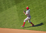 26 May 2013: Philadelphia Phillies infielder Jimmy Rollins in action against the Washington Nationals at Nationals Park in Washington, DC. The Nationals defeated the Phillies 6-1, taking the rubber game of their 3-game weekend series. Mandatory Credit: Ed Wolfstein Photo *** RAW (NEF) Image File Available ***