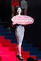 June 17, 2011 - Tokyo, Japan - Kaori Yasuda celebrates as she is named as the Yahoo! Beauty prize winner during the Miss Universe Japan finals at Tokyo Dome City Hall in Tokyo, Japan. (Photo by Christopher Jue/AFLO)