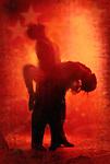 An erotic embrace in the heat of Tango dancing