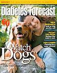 Dogs 4 Diabetics - cover feature on service dogs who aid diabetics : Tearsheets by San Francisco Bay Area - corporate and annual report - photographer Robert Houser. 2008 pictures.