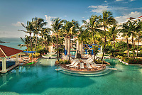 El Conquistador; Resort; Hotel; Pool; Dusk; Night; Las Croabas Fajardo; Puerto Rico; USA;