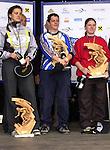 1. Inline Downhill Weltmeisterschaft, Zell am See (Austria) Die Siegerinnen: v.l.n.r Elisabeth Schrenk (Austria) 2.Platz (Silber), Gaby Leuenberger (Swiss) 1. Platz (Gold), Sandra Ladurner (Austria) 3. Platz (Bronze)