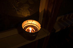 Burning citronella candle, insect repellent, insectifuge