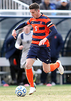 WASHINGTON, DC - NOVEMBER 25, 2012: Ted Cribley (5) of Syracuse University during an NCAA championship round of sixteen match against Georgetown at North Kehoe field, in Georgetown, Washington DC on November 25.