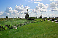 Windmills of Kinderdijk, The Netherlands Travel Stock Photos