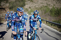 Antoine Demoiti&eacute; (BEL/Wanty-Groupe Gobert) &amp; Kenny De Haes (BEL/Wanty-Groupe Gobert) laughing along<br /> <br /> Pre-season Training Camp january 2016