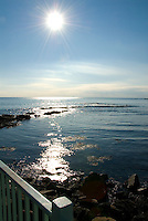 Cliff Walk, November, Newport, Rhode Island: Starburst Sun & Ocean