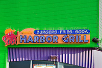 Harbor Grill, Burgers, Fries, Soda, Pacific Park, Pier, Santa Monica, CA, family, amusement, park, over the ocean