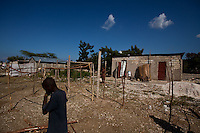 A new tent encampment goes up in heavily damaged Grand Goâve, west of Port-au-Prince. Displace people here said they are trying to get food and medical help, though two nearby camps are being assisted. The 7.0 earthquake that devastated parts of Haiti on January 12 killed hundreds of thousands of people. January's earthquake killed hundreds of thousands of people and caused significant and lasting structural and economic damage in the Caribbean nation.