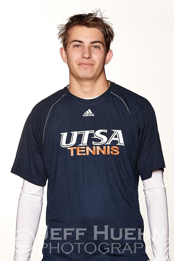 SAN ANTONIO, TX - JANUARY 12, 2015: The University of Texas at San Antonio Roadrunners Men's Tennis Team & Individual pictures. (Photo by Jeff Huehn)