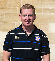 Assistant Academy Manager Barry Maddocks poses for a portrait at a Bath Rugby photocall. Bath Rugby Media Day on September 8, 2015 at Farleigh House in Bath, England. Photo by: Rogan Thomson for Onside Images