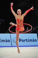 Ganna Rizatdinova of Ukraine performs at 2010 World Cup at Portimao, Portugal on March 12, 2010.  (Photo by Tom Theobald).