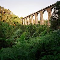 An old aquaduct in the countryside near Canero in the Asturias, Spain