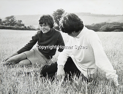 Wendy Osbourne and Adrian Swinstead. Sidcot School Somerset 1967ish