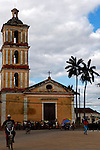 Central America, Cuba, Remedios. Iglesia del Buen Viaje, the second and lesser church on Plaza mayor in Remedios.