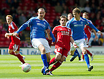 Aberdeen v St Johnstone... 23.07.11   SPL Week 1.Dave Mackay and Peter Pawlett.Picture by Graeme Hart..Copyright Perthshire Picture Agency.Tel: 01738 623350  Mobile: 07990 594431