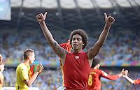 FUSSBALL WM 2014  VORRUNDE    Gruppe H     Belgien - Algerien                       17.06.2014 Axel Witsel (Belgien) jubelt nach dem Abpfiff