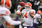 07 October 2006: Clemson's Will Proctor (14) makes a pass. The Clemson University Tigers defeated the Wake Forest University Demon Deacons 27-17 at Groves Stadium in Winston-Salem, North Carolina in an Atlantic Coast Conference NCAA Division I College Football game.