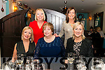 Elizabeth Cullen from Dublin celebrated her 60th birthday with front Helen Collins and Conise Murphy, back Anne Hourican and Catherine Branagan in the Lord Kenmare Restaurant, Killarney last Saturday night.