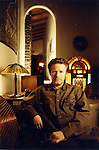 Don Henley of the Eagles in his home in the mountain overlooking Los Angeles. Copyright Jim Mendenhall.