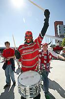USA and Dallas Burn fans at Rice-Eccles Stadium, in Salt Lake City, UT, Saturday, June 4, 2005. USA won 3-0.