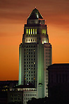 Los Angeles City Hall, completed 1928, is the center of the government of the city of Los Angeles, California, and houses the mayor's office and the meeting chambers and offices of the Los Angeles City Council