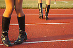 Majorettes before a high school football game.