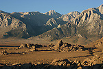Alabama Hills and Sierra Crest in morning