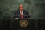 H.E. Mr. Jacob Zuma<br /> President of South Africa<br /> <br /> General Assembly Seventy-first session: Opening of the General Debate 71 United Nations, New York