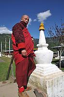 A monk at Kuriej Lhakhang Monastry, Jankar, Bumthang. Arindam Mukherjee.