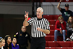 29 December 2016: Referee Bruce Morris. The North Carolina State University Wolfpack hosted the University of Notre Dame Fighting Irish at Reynolds Coliseum in Raleigh, North Carolina in a 2016-17 NCAA Division I Women's Basketball game. NC State won the game 70-62.