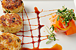 LV Bistro Crabcakes at The Fairmont Scottsdale Princess Resort in Scottsdale, Arizona