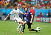 Cesar Azpilicueta of Spain and Daley Blind of Netherlands in action