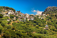 Hill Village of Skado. Naxos Greek Cycaldes Island.