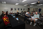 08 December 2007: The University of Southern California Trojans held a press conference at the Aggie Soccer Stadium in College Station, Texas one day before playing in the NCAA Division I Womens College Cup championship game.