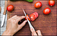 BNPS.co.uk (01202 558833)<br /> Pic: KlivissonCampelo/BNPS<br /> <br /> From skinning hides to slicing tomatoes.<br /> <br /> Yabadabadoo - Paleolithic panache for the kitchen.<br /> <br /> Foodies wanting to release their inner caveman now have the perfect tool - A kitchen blade based around a 20,000 year old stone age knife.<br /> <br /> The designers have gone back to basics to craft a utensil that sits in the hand in an organic and natural way that harks back to the dawn of time.<br /> <br /> The Stone Age IP Knife has a handle designed to look like the primitive tools that prehistoric man would have carved from stone and used to cut up animal carcasses.