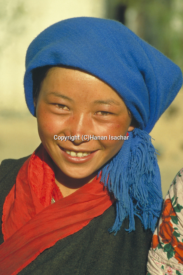 Shigatse, Tibet, a young Tibetan woman