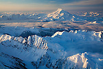 Glacier Peak as viewed from the northeast.  Morning of January 16.Aerial photo.
