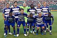 CARSON, CA – June 18, 2011: FC Dallas starting line-up for the match between Chivas USA and FC Dallas at the Home Depot Center in Carson, California. Final score Chivas USA 1, FC Dallas 2.