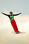 14 January 2005 - Lake Placid, New York, USA - Anna Belikh representing Russia, competes in the FIS World Cup Ladies' Aerial acrobatic competition, ranking 8th for the day at the MacKenzie-Intervale Ski Jumping Complex, in Lake Placid, NY. ..Mandatory Credit: Ed Wolfstein Photo.