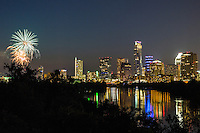 On July 4th, Austinites gather for the largest Independence Day celebration in Texas. Entertainment offerings feature the Austin Symphony, live music concerts on Auditorium shores and spectacular fireworks over Lady Bird Lake and the downtown skyline.