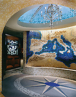 Mosaic mural and floor medallion for Argosy Casino Kansas City, Missouri