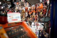 Fco. Alberto Carbajal San Vincente. Hardware store owners in Mercado Hidalgo,  Mexico DF, Mexico
