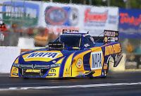 May 13, 2016; Commerce, GA, USA; NHRA funny car driver Ron Capps during qualifying for the Southern Nationals at Atlanta Dragway. Mandatory Credit: Mark J. Rebilas-USA TODAY Sports