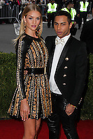 """NEW YORK CITY, NY, USA - MAY 05: Rosie Huntington-Whiteley, Olivier Rousteing at the """"Charles James: Beyond Fashion"""" Costume Institute Gala held at the Metropolitan Museum of Art on May 5, 2014 in New York City, New York, United States. (Photo by Xavier Collin/Celebrity Monitor)"""