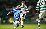Celtic v St Johnstone....26.12.10  .Chris Millar's shot is saved by Fraser Forster.Picture by Graeme Hart..Copyright Perthshire Picture Agency.Tel: 01738 623350  Mobile: 07990 594431
