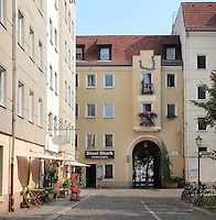Housing in the Nikolai district, Mitte, Berlin, Germany. Picture by Manuel Cohen